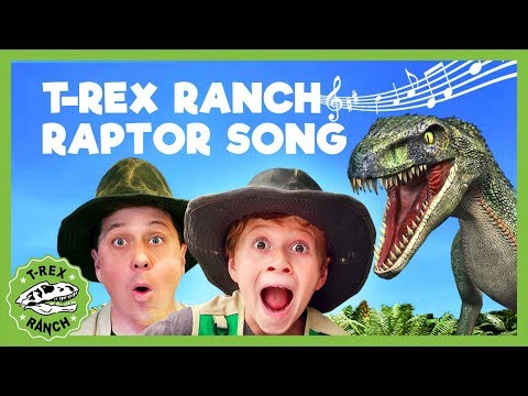 T Rex Ranch RAPTOR SONG! Dinosaurs at T-Rex Ranch! Giant T-Rex & More Dinosaurs! Songs For Kids!