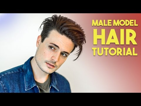 Mens hairstyles - Mens Modern Messy Slick Back Hair Tutorial  Male Model Hairstyle