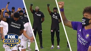 MLS players, Black Players for Change members make powerful pre-tournament statement   FOX SOCCER by FOX Soccer