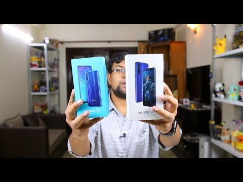 Honor 20 & Honor 20i Unboxing, First Look, Camera, Features | Hindi