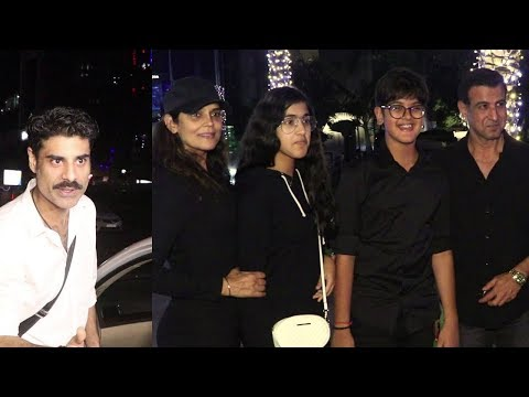 Ronit Roy With Family And Sikander Kher Spotted At Yauatcha