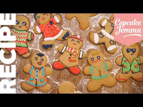 How to Make GINGERBREAD MEN!  | A Classic Recipe For Your Christmas Baking | Cupcake Jemma