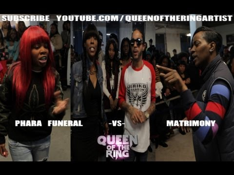 BABS BUNNY & VAGUE presents QUEEN OF THE RING PHARA FUNERAL vs MATRIMONY