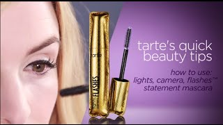 quick beauty tip: lights, camera, flashes� statement mascara