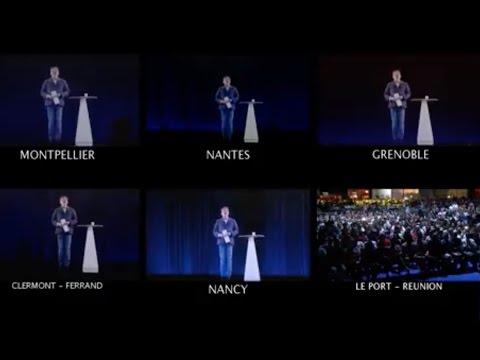 MÉLENCHON : MULTI-MEETING EN HOLOGRAMME - #LaForceDuPeuple (видео)