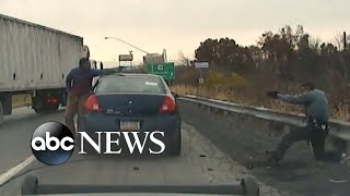 Video Video shows moment traffic stop becomes near-fatal gun battle MP3, 3GP, MP4, WEBM, AVI, FLV Januari 2019