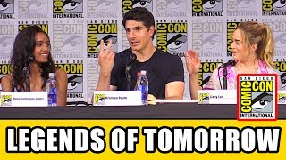 "Legends of Tomorrow Comic Con panel Season 3 news & highlights with Caty Lotz, Dominic Purcell, Brandon Routh, Maisie Richardson-Sellers, Victor Garder, Franz Drameh, Nick Zano, Tala Ashe, Marc Guggenheim & Phil Klemmer.Subscribe for more! ► http://bit.ly/FlicksSubscribeN.B. Footage, clips, previews, trailers & sneak peeks shown at Comic Con panels are not included in this video, as these are not allowed to be filmed. RELATED VIDEOS--------------Arrow Season 6 Comic Con Panel ► http://youtu.be/MpUM3nUV4cUThe Flash Season 4 Comic Con Panel ► http://youtu.be/5TueDxwTYacSupergirl Season 3 Comic Con Panel ► http://youtu.be/StOs-GxkwB0Black Lightning Comic Con Panel ► http://youtu.be/1T2soIcCA6IPLAYLISTS YOU MIGHT LIKE------------------------DC ► http://bit.ly/DCVideosMarvel ► http://bit.ly/MarvelVideosFox Marvel Movies ► http://bit.ly/FoxMarvelVideosMovie Deleted Scenes & Rejected Concepts ► http://bit.ly/MovieDeletedScenesEaster Eggs ► http://bit.ly/EasterEggVideosAmazing Movie Facts ► http://bit.ly/ThingsYouDidntKnowVideosPixar ► http://bit.ly/PixarVideosDisney Animation ► http://bit.ly/DisneyAnimationVideosStar Wars ► http://bit.ly/StarWarsVidsSOCIAL MEDIA & WEBSITE----------------------Twitter ► http://twitter.com/FlicksCityFacebook ► http://facebook.com/FlicksAndTheCityGoogle+ ► http://google.com/+FlicksAndTheCityWebsite ► http://FlicksAndTheCity.comThanks to Comic Con International http://www.comic-con.org/After crash landing the Waverider in a version of 2017 Los Angeles where dinosaurs roam the streets and the skyline is adorned by the iconic Big Ben clock tower, the Legends were quick to realize, ""We broke time."" Last year, the loveable band of misfit heroes traveled throughout the timeline, fixing a series of aberrations. This year, they'll be turning the crazy up to 11, as a wave of anachronisms turn history on its head, leaving the Legends responsible for piecing it back together. What is an anachronism you ask? For the answer to that, and many other questions, join the cast and creative team behind The CW's hit superhero team-up series. From Berlanti Productions in association with Warner Bros. Television, DC's Legends of Tomorrow' s season premiere airs Tuesday, October 10, at 9/8c on The CW. DC's Legends of Tomorrow: The Complete Second Season is available now on digital and will be released on Blu-ray and DVD on August 15."