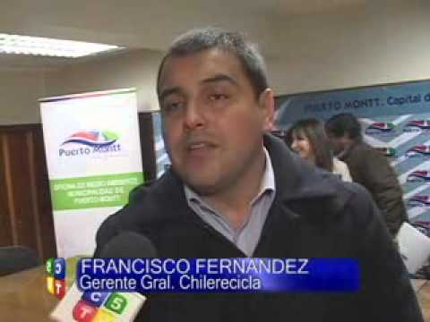 MUNICIPALIDAD DE PUERTO MONTT Y LA EMPRESA CHILE RECICLA FIRMAN CONVENIO