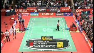 Video R16 - MS - Bao Chunlai vs. Taufik Hidayat - 2011 Djarum Indonesia Open MP3, 3GP, MP4, WEBM, AVI, FLV September 2018