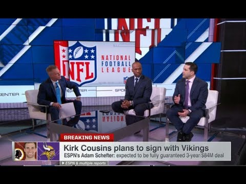 Kirk Cousins Plans to Sign With Vikings | Mar 13, 2018