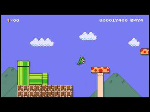 Super Mario Maker : the frog Mario costum / costume grenouille