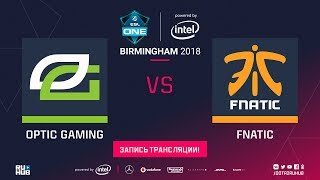 OpTic vs Fnatic, ESL One Birmingham, game 1 [Lum1Sit, Adekvat]