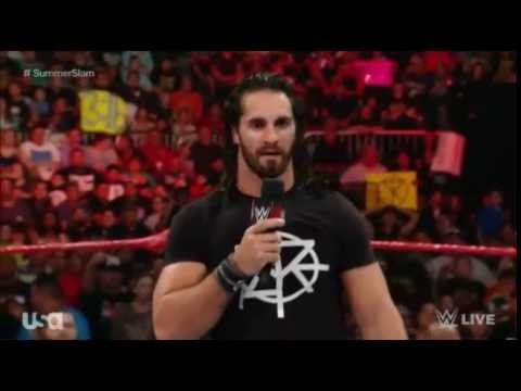 Video Fan interrupts Seth Rollins - WWE Raw August 15 2016 download in MP3, 3GP, MP4, WEBM, AVI, FLV January 2017