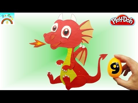Best Play Doh creation ( cute baby dragon with fire) -kids video