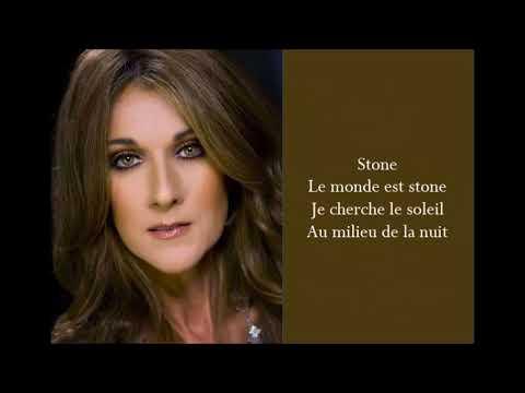 Le Monde Est Stone - Celine Dion - (Lyrics)
