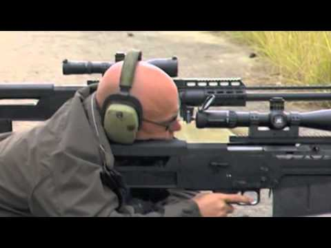 AS50 - The Accuracy International AS-50 testing the dedicated incendiary round.
