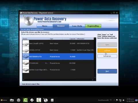 Power Data Recovery |VIDEO TUTORIAL| Recuperación de datos.