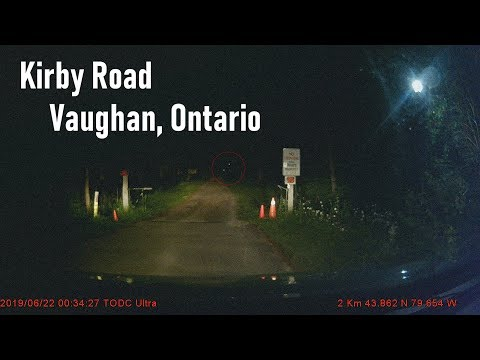 """The Spooky """"Haunted"""" Kirby Road Experience - Midnight Drive Dashcam Footage (Vaughan Ontario)"""