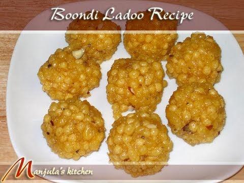 Boondi (Bundi) Ladoo Recipe by Manjula, Indian Sweets