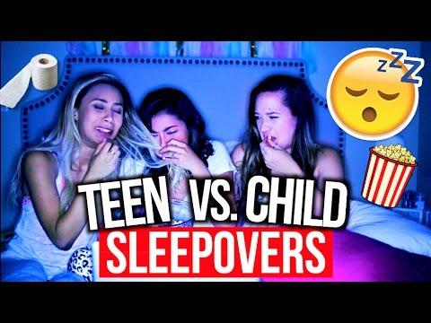 High School Sleepovers Vs. Child Sleepovers!