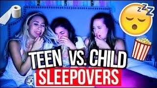 High School Sleepovers Vs. Child Sleepovers! | MyLifeAsEva