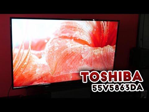 📺 Toshiba 55V5863DA Auspacken und Gucken :)  [Deutsch] 4K