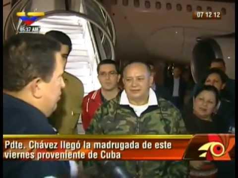 Llegada del presidente Chávez a Venezuela (7 de diciembre de 2012).