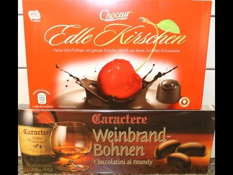 From Germany: Mon Cheri, Edle Kirschen & Caractere Weinbrand Bohnen Review