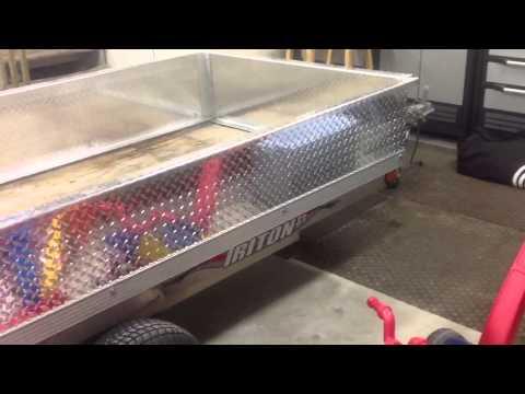 Triton Trailer - Adding Aluminum Sides