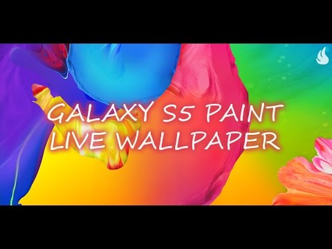 Video of Galaxy S5 Paint Live Wallpaper