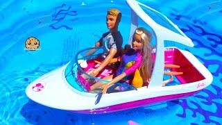 Video Boat Trip ! Dolphin Magic Barbie Sets Part 2 ! Pool Water Play Dolls MP3, 3GP, MP4, WEBM, AVI, FLV Januari 2019