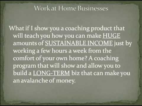 Work at Home Businesses | Advice on Work at Home Businesses