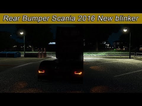 Rear bumper Scania 2016 New blinker flashing beta