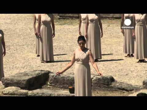 olympic Prayer 2012 – Η επίκλησή της Πρωθιέρειας προς  τον θεό Απόλλωνα