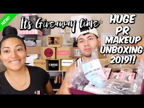 HUGE PR UNBOXING HAUL | SO MUCH NEW MAKEUP! - ALEXISJAYDA