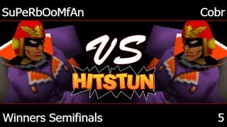 Hitstun 5 – PG | SuPeRbOoMfAn (Falcon, Fox) vs Cobr (Falcon) Winners Semifinals