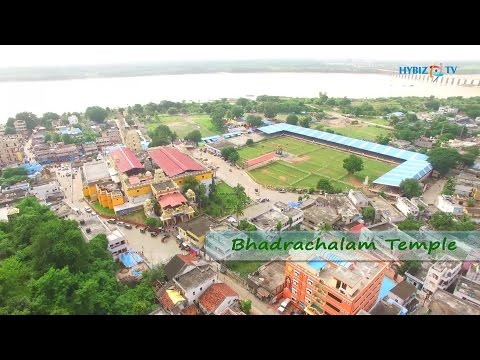 Bhadrachalam Temple Aerial View