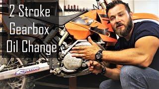 8. How to change gearbox oil on 2 stroke dirt bike - KTM 250 SX