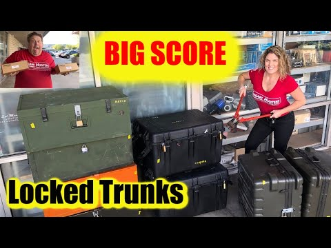 Locked Military Trunks from Abandoned Storage Wars Auction BIG SCORE