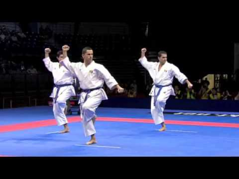 Karate - History of Karate. Karate Male Team Kata Final. Japan vs. Italy. Performance of Team Italy in the WKF World Championships Belgrade 2010. Team Italy is formed...