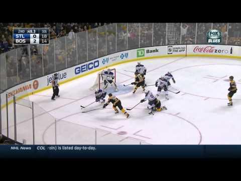 Brian Elliott robs Patrice Bergeron St. Louis Blues vs Boston Bruins Nov 18 2014 NHL