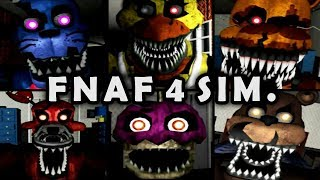 Five Nights at Freddy's 4 Nightmare Sim. in animatronics' perspective, fangame by SpringyTrap101. Check out all of them from his page below.Games link ► http://gamejolt.com/@SpringyTrap101Subscribe for More ► http://bit.ly/DarkTaurusFacebook ► https://www.facebook.com/DarkTaurusYTTwitter ► https://twitter.com/darktaurusyt