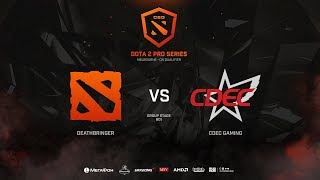 CDEC Gaming vs DeathBringer, CEG Dota 2 Pro Series,  bo1
