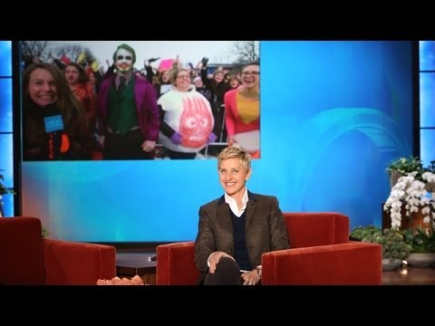 illinois - Ellen sent a tweet, and the people of Illinois got it! Check out all of the amazing people and costumes that showed up to be live on the show!