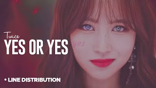 Video TWICE (트와이스)「 Yes or Yes 」Line Distribution MP3, 3GP, MP4, WEBM, AVI, FLV November 2018