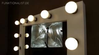Theaterspiegel mit 11 Lampen
