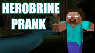 GROWN MAN SCREAMS AT HEROBRINE SIGHTING!! (MINECRAFT HEROBRINE PRANK)