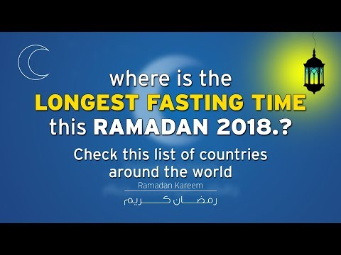 LONGEST FASTING TIME this RAMADAN 2018 | Check this list of countries around the WORLD |