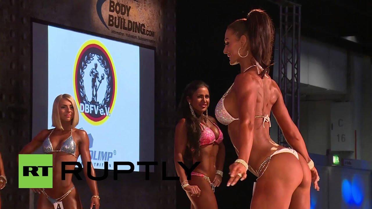 Germany: Fitness models flaunt form and flesh at 2014 DBFV Bikini Cup