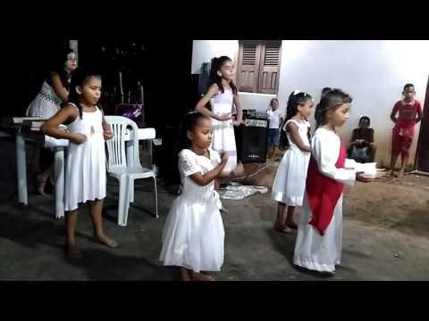 Ministério de dança e coreografia infantil da Igreja Batista em Palmeirândia.